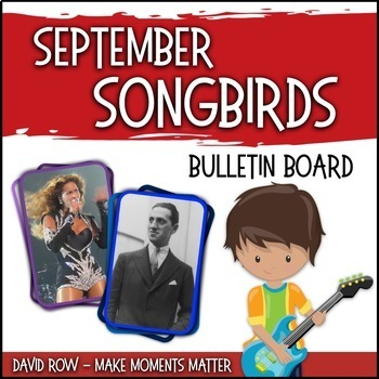September Songbirds -- Music Bulletin Board Set