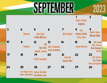 September Songbirds -- Music Bulletin Board Set