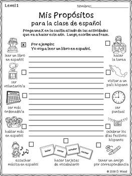 September Spanish Activity Pack FREEBIE (Actividades para septiembre)