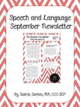 September Speech Newsletter
