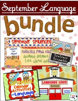 September Speech and Language Bundle - $ saving