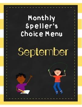 September Brain Blasts (Speller's Choice Menu)