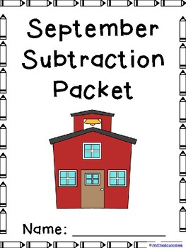 September Subtraction Worksheet Packet- Print and Go!