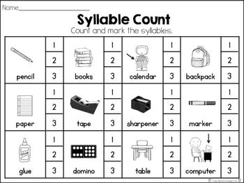 September Syllable Set