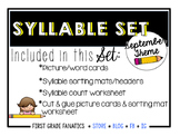 September Syllable Set