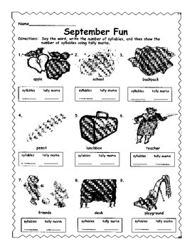 September Syllables & Tally Marks