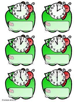 September Telling Time File Folders for Special Education