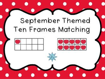 September Ten Frames Matching