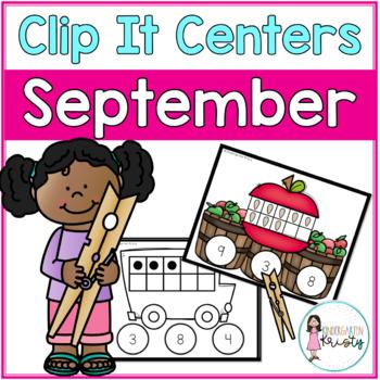 September Tens Frame Clip It Centers