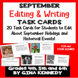 "September Themed ""Daily Editing"" Writing Task Cards, Fun H"