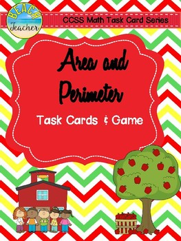 September Themed Area and Perimeter Task Cards & Game