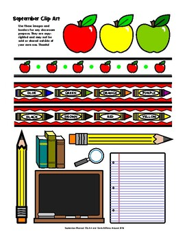 September Cards and Clip Art—a PACKED file!!