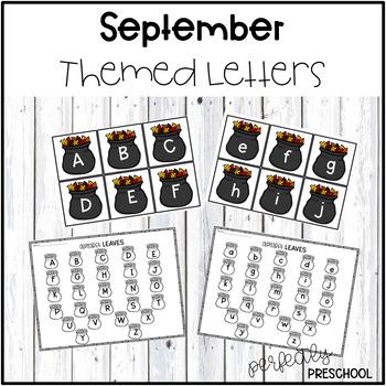 September Themed Sensory Bin Letters
