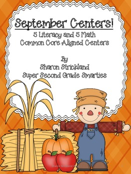 September Themed Common Core Literacy and Math Centers