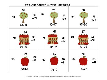 September Themed Differentiated Math Puzzles 2.NBT.5