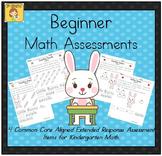 Beginner Kindergarten Math Extended Response Bundle