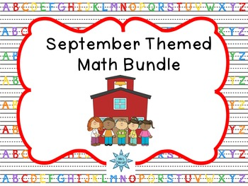 September Themed Math Centers Bundle