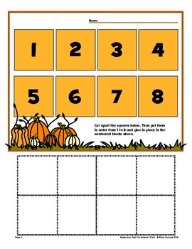 September Themed Open Worksheets - 10 Styles with variations! Quick and Easy