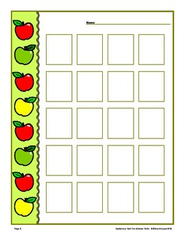September Open Worksheets - 10 Styles with variations! Quick and Easy