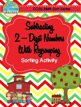 September Themed Subtraction With Regrouping Sorting Activity & SCOOT Game
