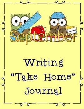 September Themed Take Home or Classroom Writing Journal