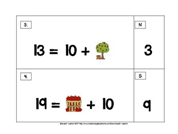 September Themed Unknown Number Equations Matching Puzzles 1.OA.8