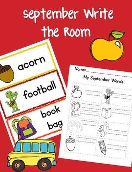 September Themed Write the Room