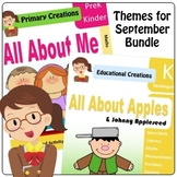 September Themes Preschool and PreK Literacy and Maths Activities