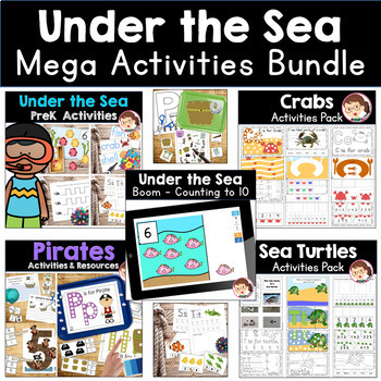 Ocean and Under the Sea Preschool and Prek Literacy and Maths Activities