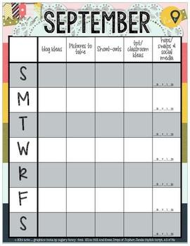 September Calendar & Blog Planner