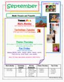 September Toddler Time Activities