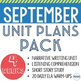 September Unit Plans Bundle - 4 Units to Teach All September Long!
