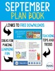 September Virtual Plan Book - Tips, Tricks, and Teaching Ideas for September