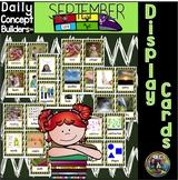 September Vocabulary Display Cards