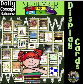 September Vocabulary Display Cards