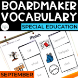September Vocabulary Unit- Boardmaker