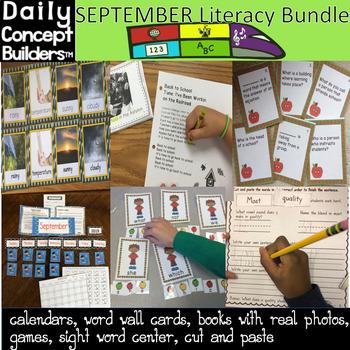 September Vocabulary Literacy Activities
