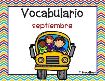 September Vocabulary-Spanish