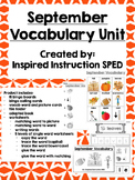 September Vocabulary Unit for Early Elementary or Students