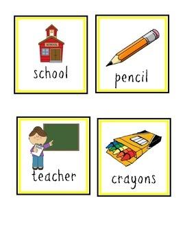 September Vocabulary Word Cards