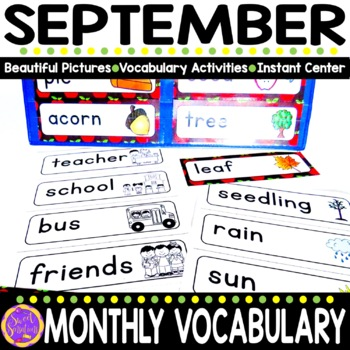 September Vocabulary Words (Johnny Appleseed, Apples, Fall