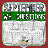 September WH- Question Dauber Pages