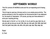 September WORDO