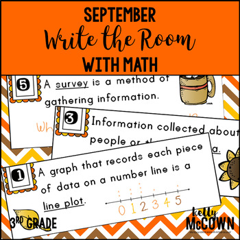 September  WRITE THE ROOM with Math - 3rd Grade