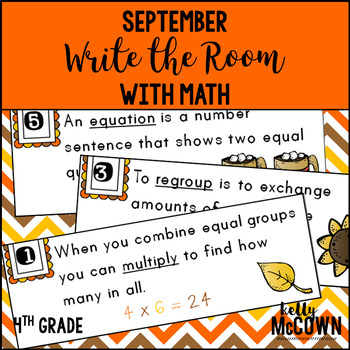 September WRITE THE ROOM with Math - 4th Grade
