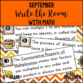 September WRITE THE ROOM with Math - 5th Grade