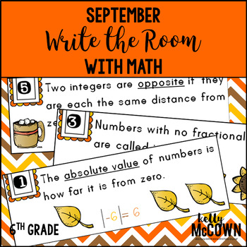 September WRITE THE ROOM with Math - 6th Grade