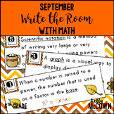 September WRITE THE ROOM with Math - 8th Grade