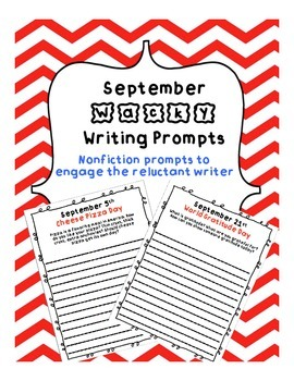 September Wacky Writing Prompts