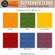 September Watercolor Digital Papers